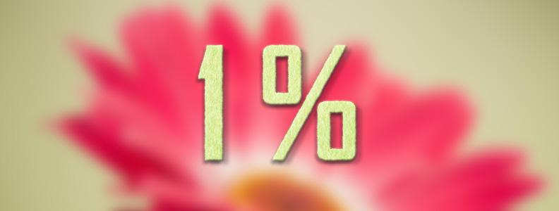 Támogatás adója 1% val